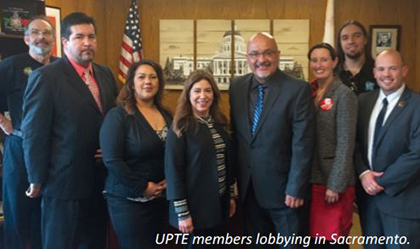 UPTE members lobbying in Sacramento