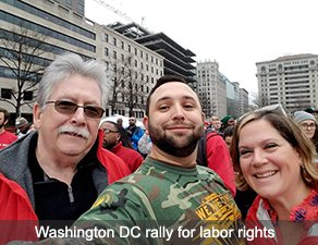 Washington DC rally for labor rights
